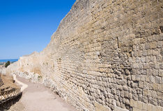 Fortified walls. Tarquinia. Lazio. Italy. Stock Photography
