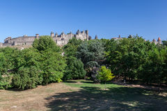 Carcassone Medieval City France Stock Photos