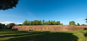 Fortified Walls - Town of Lucca Italy Royalty Free Stock Photo