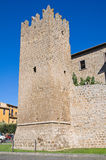Fortified walls. Tuscania. Lazio. Italy. Royalty Free Stock Image