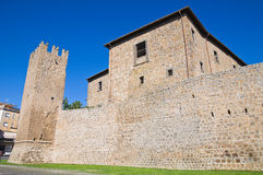 Fortified walls. Tuscania. Lazio. Italy. Stock Image