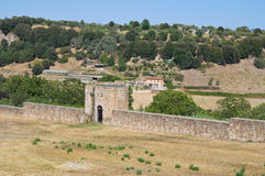 Fortified walls. Tuscania. Lazio. Italy. Stock Images