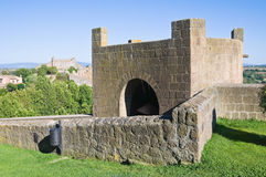 Fortified walls. Tuscania. Lazio. Italy. Stock Photography