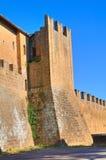 Fortified walls. Tuscania. Lazio. Italy. Stock Photos
