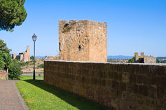 Fortified walls. Tuscania. Lazio. Italy. Stock Photo