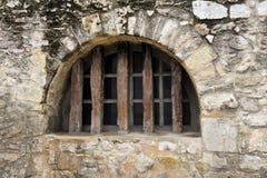 Fortified Window. A Fortified Window in the Historic Alamo Wall in San Antonio, TX royalty free stock photo