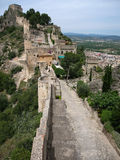 Fortifique em Jativa, Valência y Múrcia, Espanha Fotografia de Stock
