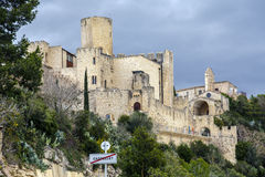 Fortifique-me em Castellet la Gornal do lago catalonia Imagens de Stock
