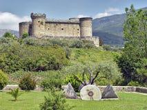 Fortifique Mombeltran, serrote de Gredos, Spain Fotos de Stock Royalty Free