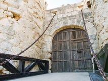 fortifique na província de ampudia palencia, Spain Fotografia de Stock Royalty Free