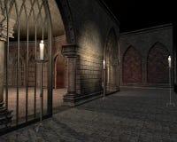 Fortifique o Dungeon com velas Foto de Stock
