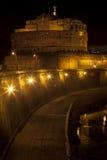 Fortifique Sant Angelo e rio Tibre em Roma, Itália Fotos de Stock Royalty Free