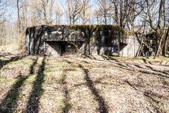 Fortigication MO-S-9 su ex Ceco - confini tedeschi vicino alla città di Ostrava in repubblica Ceca Fotografie Stock Libere da Diritti