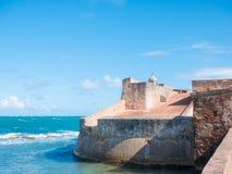 Fortin de San Geronimo de Boqueron Fort San Geronimo, an abandonned fort in San Juan, Puerto Rico.  royalty free stock image