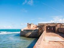 Fortin DE San Geronimo de Boqueron Fort San Geronimo, een verlaten fort in San Juan, Puerto Rico royalty-vrije stock afbeeldingen