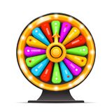 Fortine weel turning luck lottery layerd 3d isolated vector illustration. Fortine weel turning luck 3d lottery layerd isolated vector illustration Royalty Free Stock Image