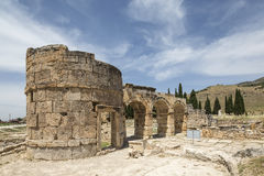 The Fortinus Gate in Hierapolis, Denizli, Turkey Stock Photo