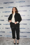 Fortitude' - UK Premiere - Arrivals. LONDON, ENGLAND - JANUARY 14: Sienna Guillory attends the UK Premiere of Sky Atlantic's 'Fortitude' on January 14, 2015 in Stock Photography