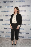 Fortitude' - UK Premiere - Arrivals. LONDON, ENGLAND - JANUARY 14: Sienna Guillory attends the UK Premiere of Sky Atlantic's 'Fortitude' on January 14, 2015 in Stock Photos