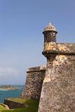 fortjuan morro gammala Puerto Rico san Arkivbild