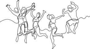 Fortlöpande linje teckning av karateidrottsman nen vektor illustrationer