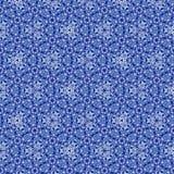 Fortlöpande modell med effekt av broderirichelieuen i blå gzhelfärg, mycket trevlig modell för textil och tyg vektor illustrationer