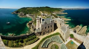 FortLaLatte i Brittany, Frankrike royaltyfri fotografi