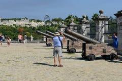 Fortless av verkliga Fuerza på havannacigarren på Kuba Royaltyfria Foton