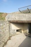 Fortleva observation bunkra på Pointen du Hoc, Frankrike Royaltyfria Bilder