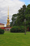 Fortness of St. Peter and Pavel and the park in St-Petersburg, R Stock Photography