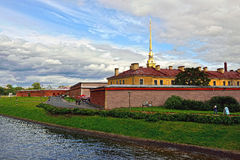 Fortness of St. Peter and Pavel and river Neva in St-Petersburg, Royalty Free Stock Photography