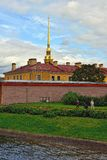 Fortness of St. Peter and Pavel and river Neva in St-Petersburg, Royalty Free Stock Photos