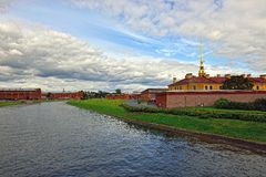 Fortness of St. Peter and Pavel and river Neva in St-Petersburg, Stock Image