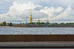 Fortness of St. Peter and Pavel and river Neva in St-Petersburg, Stock Images