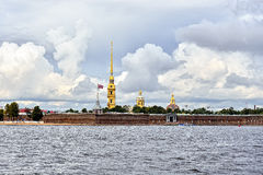 Fortness of St. Peter and Pavel and river Neva in St-Petersburg, Royalty Free Stock Images