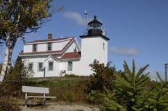 Fortpunktfyr, New England, Maine, Förenta staterna royaltyfria foton