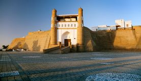 Fortres Ark - Ark entrance - City of Bukhara Royalty Free Stock Photography