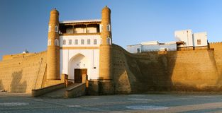 Fortres Ark - Ark entrance - City of Bukhara Stock Photos