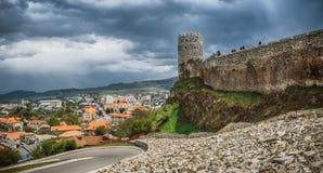 Fortres de Rabath en Akhaltsikhe, Georgia El lado externo del complejo del castillo de Lomisa o del castillo de Rabati Vista dram Fotos de archivo libres de regalías