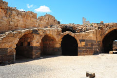 Fortress. Ruins Of The Crusader Fortress Belvoir In Lower Galilee, Israel Stock Photos