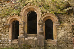Fortress. Arch window and door in fortress wall Stock Images