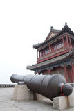 Fortress. Canon on a Chinese ancient Fortress Stock Photos