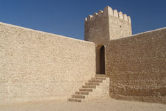 Fortress. The 19th century Al Thughb fortress in Qatar Royalty Free Stock Photos
