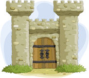 Fortress. The ancient fortress with a gate, vector