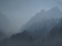 Fortress. Asen`s Fortress in the fog Royalty Free Stock Photography