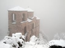 Fortress. Asen`s Fortress in the fog Royalty Free Stock Photos