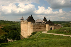 Fortress. Ancient fortress in the city of Hotin, on the bank of Dnestr, Ukraine Royalty Free Stock Photo