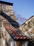 Fortress. Stonewalls at Akershus fortress in Oslo, Norway stock images