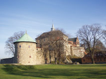 Fortress. Buildings at Akershus fortress in Oslo, Norway royalty free stock photos