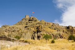 The fortress. Fortress in turkish town at east turkey royalty free stock photography